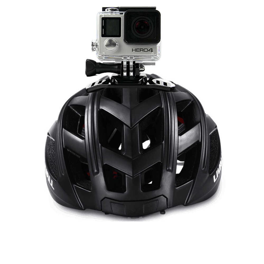 SnowHu para Gopro accesorios cabeza casco Correa Ventilación ajustable cinturón adaptador para Go pro Hero 8 7 6 5 4 Xiao Yi 4K + GP04