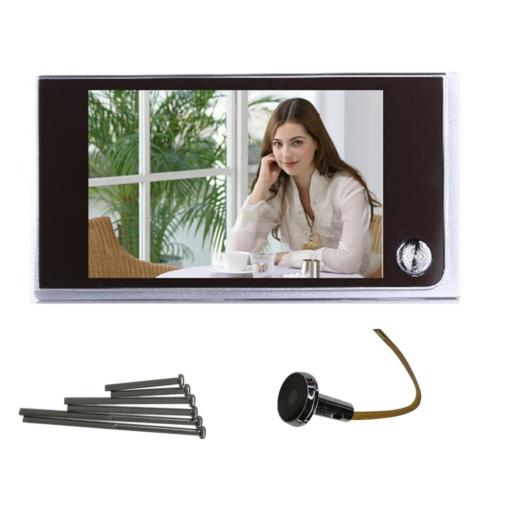 Quente Em Todo O Mundo Multifuncional Home Security 3.5 polegada LCD Memória Digital a Cores TFT Espectador Olho Mágico Da Porta Campainha Câmera de Segurança Nova