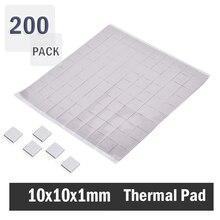 200pcs 10x10x1mm/pcs Thermal Conductive Pads Heatsink Chip Compound Pad