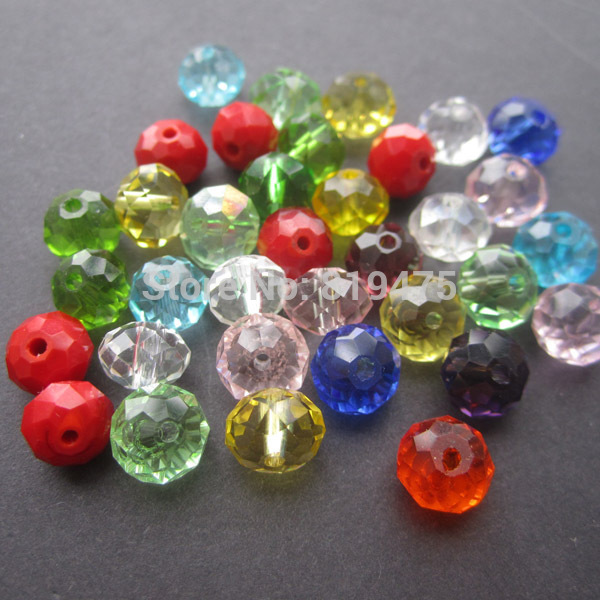 6 8 10mm Crystal Beads Rondelle Faceted Mix Color for jewelry making wholesale and retail