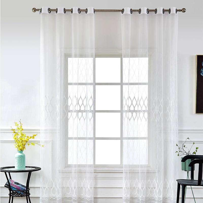 Tulle Rideaux Pour Salon Moderne Voile Rideaux Chambre Decoration