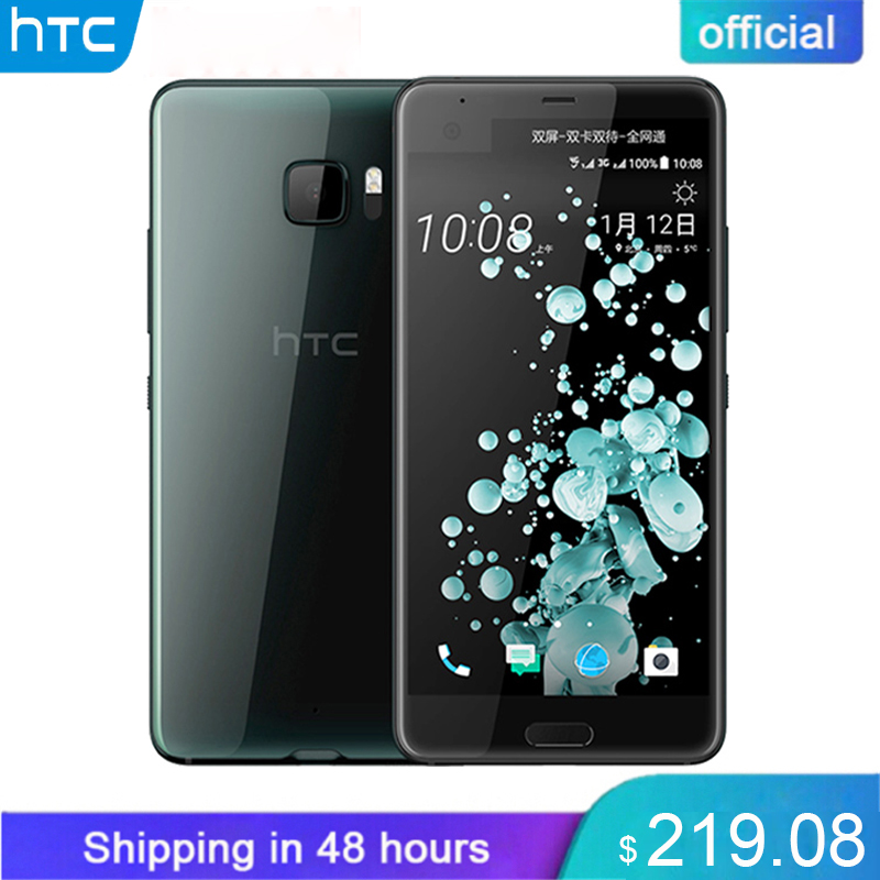 Oficial Original HTC U Ultra Dupla Afixação 4 gb RAM gb ROM Snapdragon 821 Telefone Móvel 2560x1440px 64 Android7.0 Quad núcleo 3000 mah