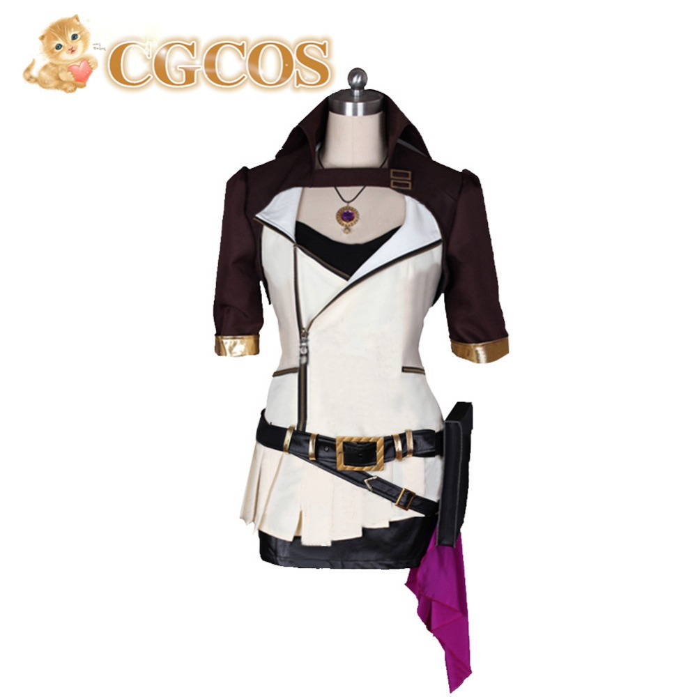 CGCOS Free Shipping Cosplay Costume RWBY Yang Xiao Long New in Stock Retail/Wholesale Halloween Christmas Party Dress Uniform