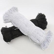 1 мм/2 мм/3 мм белые/черные тонкие круглые эластичные ленты Эластичная лента для свадебной одежды эластичная лента для DIY швейных аксессуаров