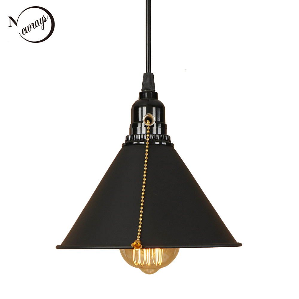 Modern industrial pendant light LED E27 creative hanging lamp with switch for living room restaurant bedroom dining room cafe modern colorful aluminum pendant light led e27 220v hanging lamp for living room restaurant dining room hotel cafe bedroom bar
