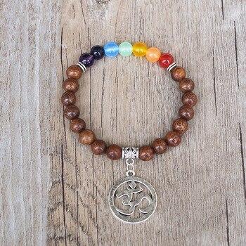 Bracelet 7 Chakras du Bonheur OM
