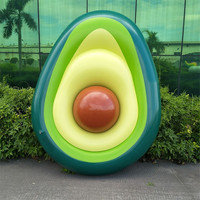 160x125 cm Avocado Inflatable Swimming Circle Swimming Giant Pool Float For Adults Bathing Beach Kids Toys