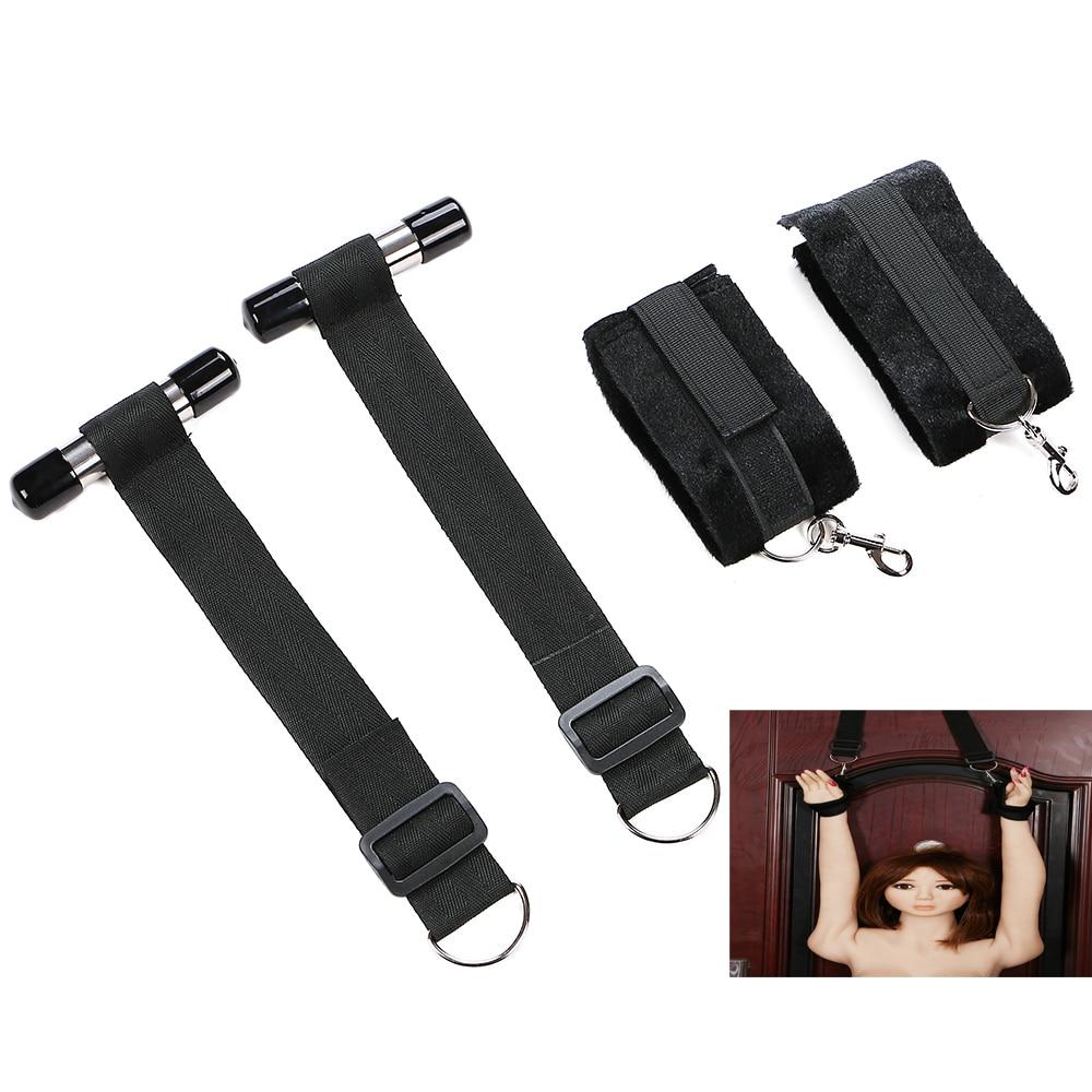 NylonAdult Games Door Swing Handcuffs Fetish Bdsm Bondage Restraints Window Hanging Hand Cuffs Erotic Sex sm Toys For Couples xo