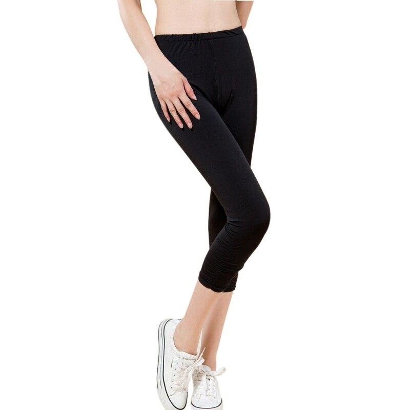 2018 Autumn Sexy Casual Women Calf-Length Skinny Leggings Large Size L-4XL High Elastic Lady Capris & Pants Bottom Plus Size 4XL