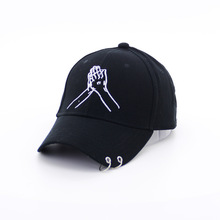 3aeeeee384f New Pattern Embroidery Both Hands Palm Namaste Ma am Baseball Hat Spring  New Pattern Hoop Man Hats-in Baseball Caps from Apparel Accessories on ...