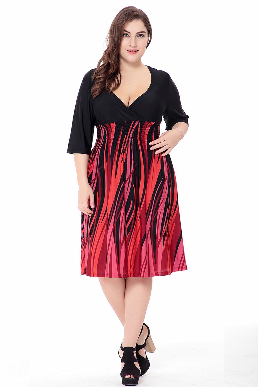 wanita musim panas baru cetak ukuran besar gaun xl-6xl wanita kasual leher  v boho plus ukuran gaun pendek lemak mm ukuran besar gaun vestidos