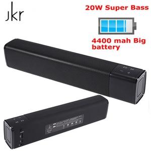 Nouveau JKR KR-1000 Bluetooth haut-parleur 20W Subwoofer stéréo boîte haut-parleur sans fil colonne 4400mAh Super basse pour téléphone portable pc
