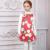 Meninas Vestido de Inverno 2017 Da Marca Sem Mangas Crianças Vestidos com Tulipas Brancas Imprimir Vestido de Festa Menina Princesa Traje Crianças Roupas
