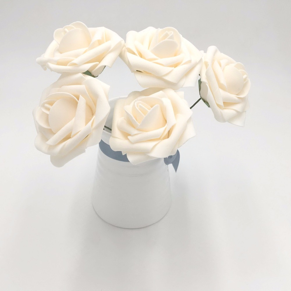 100PCS Blush Roses Flowers Fake Foam Roses Blush Pink Wedding ...