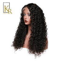 Brazilian Deep Wave Human Hair Wigs Remy Lace Front Wig For Black Women Bleached Knot Pre