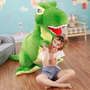 Image 2 - 60 センチメートル/90 センチメートル漫画の恐竜ぬいぐるみ趣味巨大なティラノサウルスレックスぬいぐるみ人形ぬいぐるみのおもちゃ子供男の子クラシックのおもちゃ