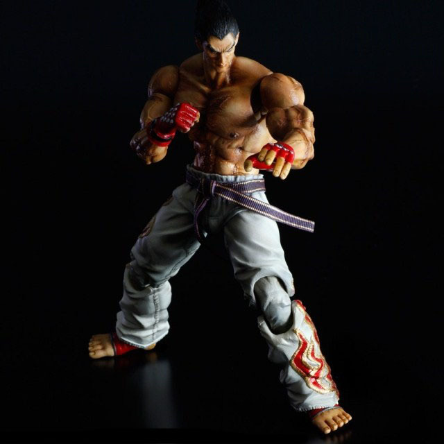 Tekken Tag Tournament 2 Play Arts Kai Mishima Kazuya PVC Figure Collectible Model Toy 25cm KT3992 free shipping 10 pa kai game tekken tag tournament 2 mishima kazuya boxed 25cm pvc action figure collection model doll toy gift
