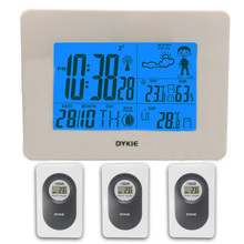 Wireless Weather Station Outdoor Electronic Thermometer Indoor Temperature Hygrometer High Precision Home Clock