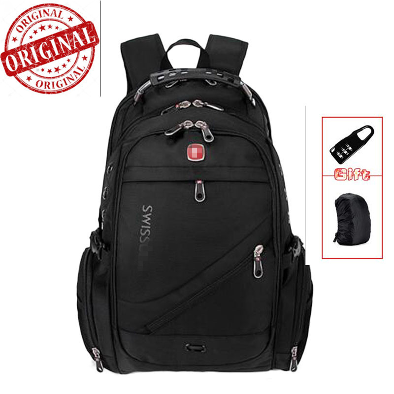 suissewin swiss  Waterproof  red Cross Gear Backpack Men 8810 17 inch Laptop Backpack Sac A Dos Men Backpacks Swiss Travel bag 2016 new quality waterproof oxford swissgear backpack men 15 inch laptop bag sac a dos men backpacks swiss travel backpack lock
