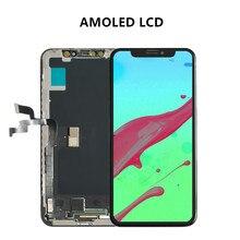 AMOLED Дисплей для iPhone X ЖК-дисплей Дисплей и сенсорный дигитайзер объектив Экран Полное собрание Замена Ремонт Часть