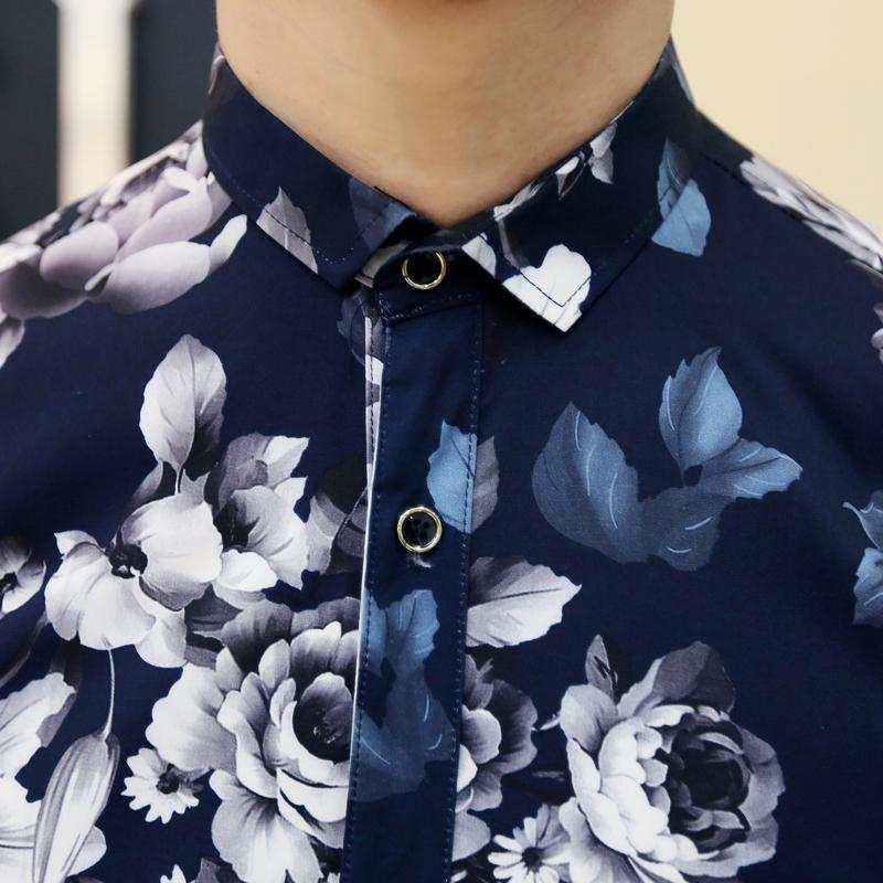 aed253697b54f Men's Designer Hawaii Fashion Flower Classy Funky Cozy Button Casual Dress  Shirt Free Shipping on Aliexpress.com   Alibaba Group