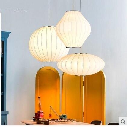 Lampes suspendues modernes lanternes de style chinois personnalisé boule créative soucoupe volante lampe en soie magasin de vêtements pendentif ya73118