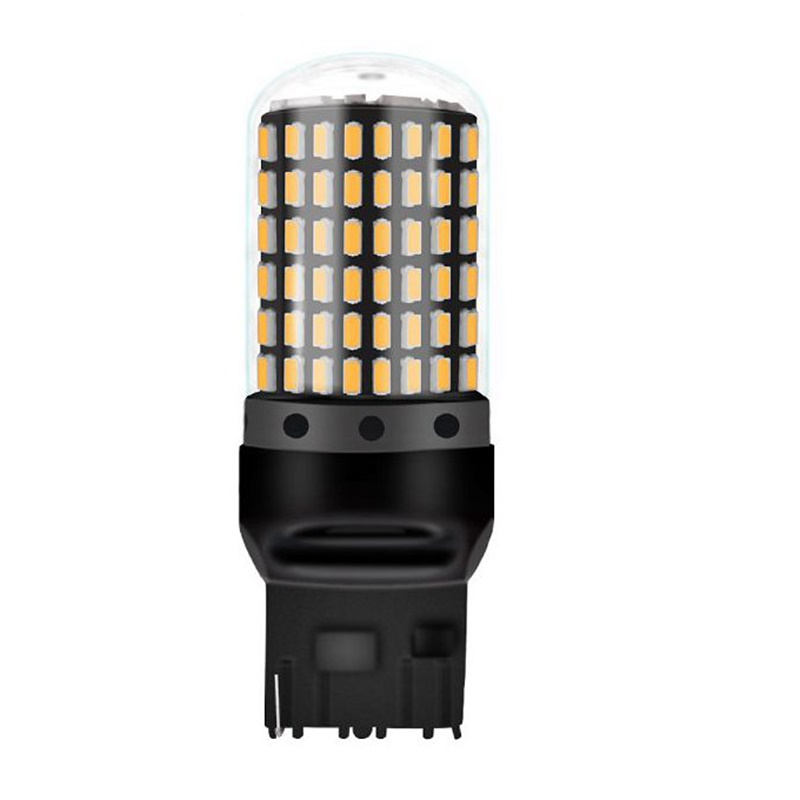 HTB1 VDOX5LrK1Rjy1zdq6ynnpXai 1PC T20 7440 W21W LED Bulbs 3014 144smd led CanBus No Error 1156 BA15S P21W BAU15S PY21W led lamp For Turn Signal Light No Flash