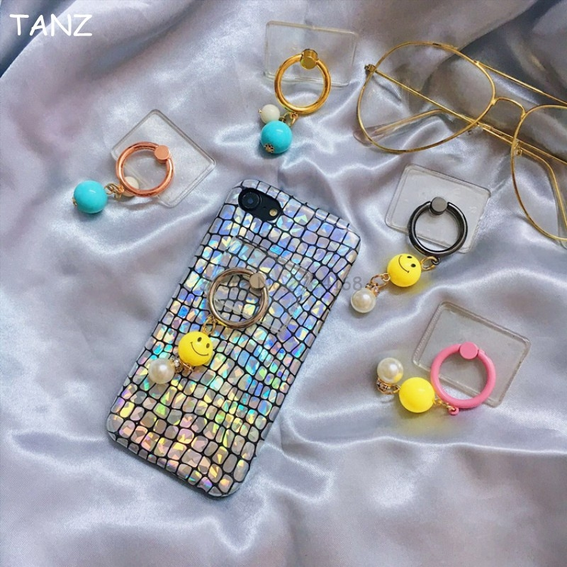 Transparent Clear Pendant Universal Mobile Phone Holder 360 Degree Rotation Finger Ring Holder Stand Mobile Phone Accessories