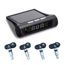 Солнечной энергии салона автомобиля TPMS шин Давление мониторинга Системы цифровой ЖК-дисплей Дисплей Авто охранной сигнализации Системы s с внутренним Сенсор
