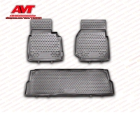 Floor mats case for Land Rover Defender 110 5D 2007 3 pcs rubber rugs non slip rubber interior car styling accessories