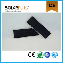 Solarparts 5pcs 1 5V 1 2W 800mA poly cell transparency frosted pet solar panel module cell