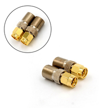 цена на 1PCS F Type Female Jack To SMA Male Plug Straight RF Coaxial Adapter F Connector To SMA Convertor Gold Tone