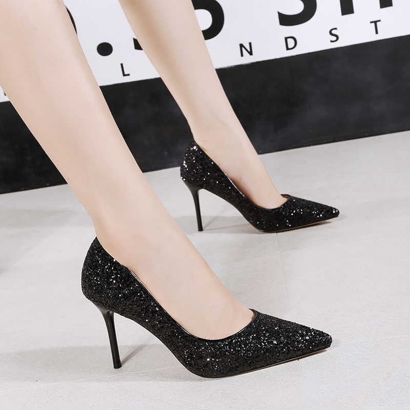 4a24fd01803 2019 New Women Sexy Pumps Glitter Sequins Shoes Woman Rose Gold Silver High  Heels Evening Party Queen Cinderella Scarpins Shoes