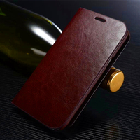 Genuine Real Leather Wallet Card Holder Flip Case Cover For Samsung Galaxy S6 Edge Plus S5