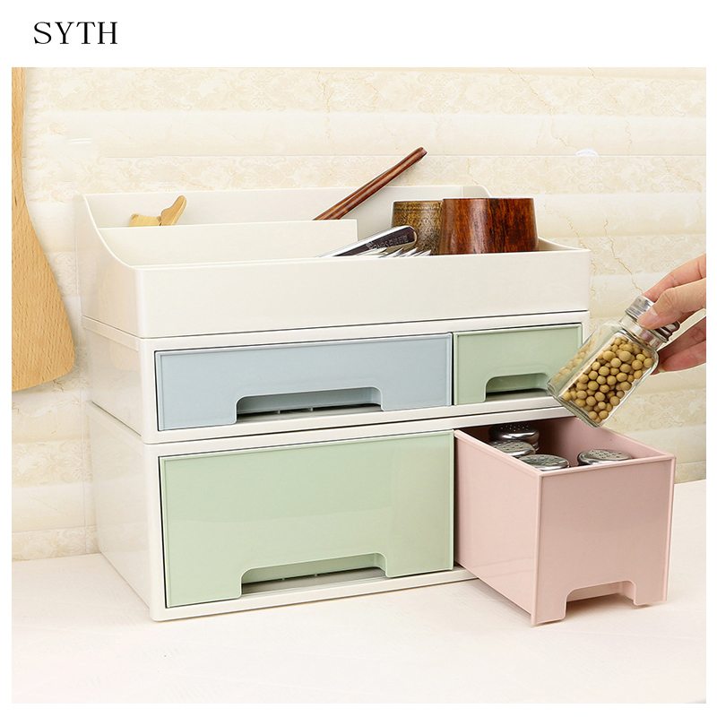 c21840767300 US $10.56 5% OFF|SYTH Desktop Glossy Plastic Cosmetic Organizer Makeup  Storage Boxes Bins Plastic Cosmetic Storage Box Sundry cosmetic  organizer-in ...