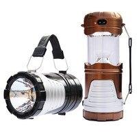 1 PC Multifuncional Barraca de Acampamento Ao Ar Livre Movido A Energia Solar Lanterna Caminhadas Pesca de Emergência CONDUZIU a Lâmpada de Luz