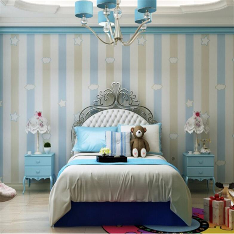 Beibehang Home decoration 3d wallpaper roll stars clouds boys and girls children bedroom bedroom ceiling wallpaper for walls 3d