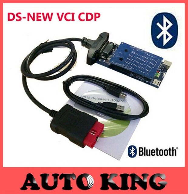 2pcs+DHL Free ship! ds-tcs cdp 2015.R1 Software with bluetooth obd obd2 scan tcs CDP Pro Plus diagnostic tool for cars trucks