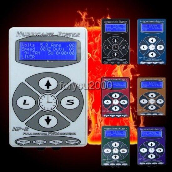 ФОТО Best Quanlity Tattoo Hurricane Power Digital Tattoo Machine Gun Power Supply LCD Display 8 Colors Kits Supply Pop