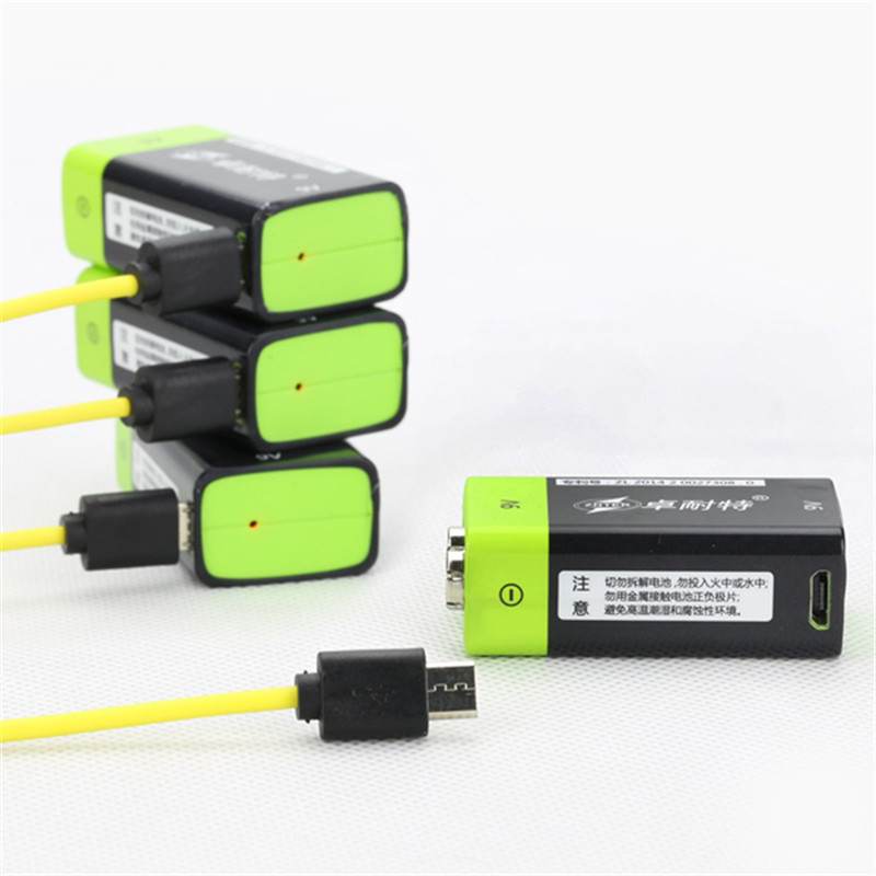1PCS ZNTER S19 9V 400mAh USB Rechargeable 9V Lipo Battery For RC Camera Drone Accessories