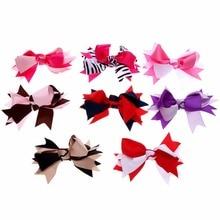 5pcs Fashion Woman Kid`s Bow Headwear Hair Bands Accessories Ribbon Bowknot Baby Girls Print Hairband No Hairclips
