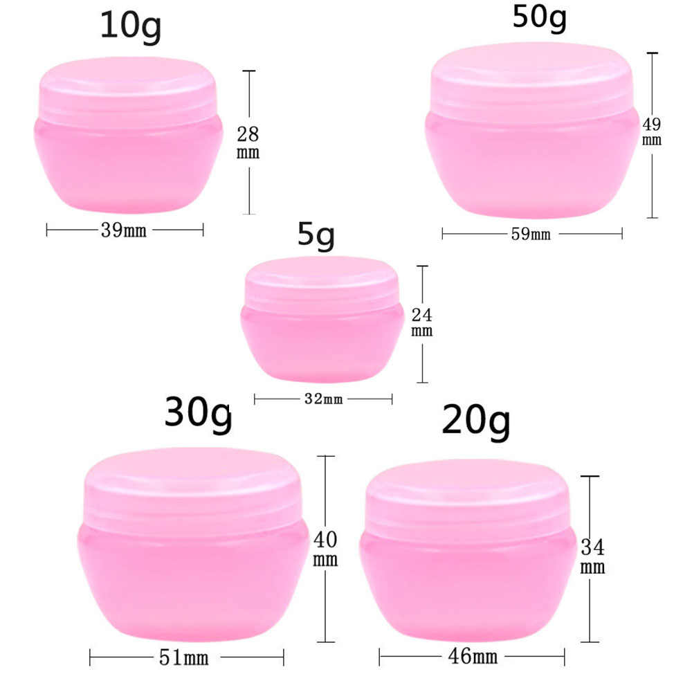 10g 20g 30g 50g Cosmetics Jar Box Makeup Cream Cosmetic Bead Storage Pot Container Round Bottle Portable Plastic Case