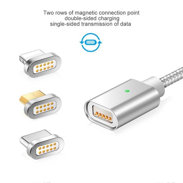 Cable de carga cargador magnético datos USB para IPhone Micro USB tipo C teléfono móvil cargador magnético de carga rápida Cable USB 3 macho