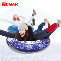 DMAR Skiing Snow Tube Inflatable Snow Sled With Rapid Valves Heavy Duty For Adults Kids Slippery Grass Sand Float Backpack Gift