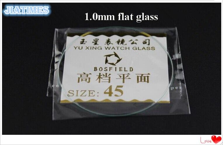 Vidro para Relojoeiros 1.0mm de Espessura Frete Grátis Atacado 16-50mm Tamanho Plano Mineral Relógio Cristal 100 Pçs