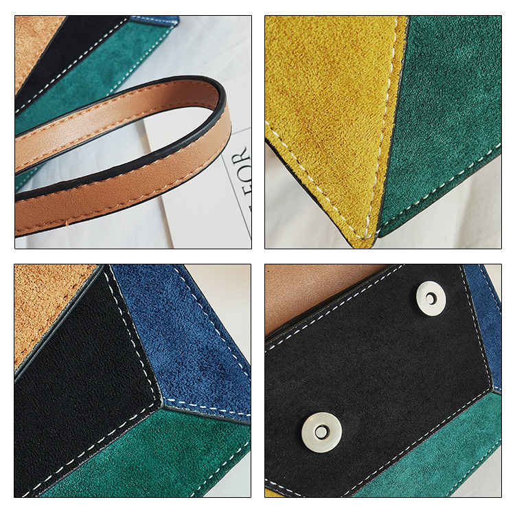 de ombro mensageiro panelled cor moda pequeno quadrado saco