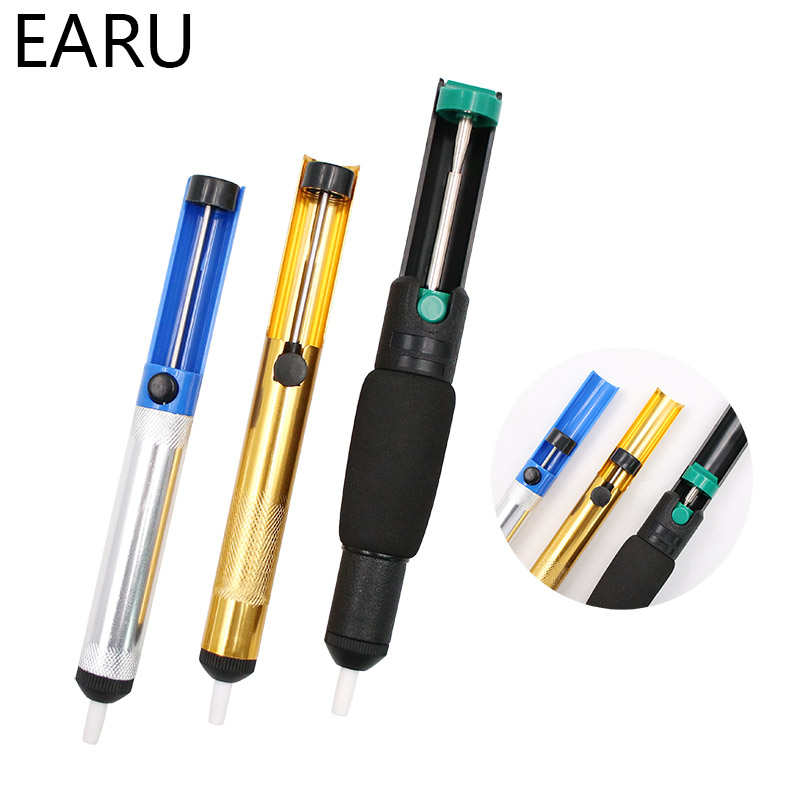 Metal Solder Sucker Desoldering Pump Removal Vacuum Soldering Iron Desolder Suction Tin Pen Hand Tools Welding Tools Wholesale