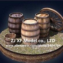 Нидейл модель классический древний корабль модель бочонка комплект деревянный бочонок для бренди ведра 2 шт./партия