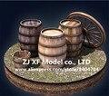 Clássico modelo de navio antigo barril barril kit de madeira brandy baldes 2 pçs/lote frete grátis