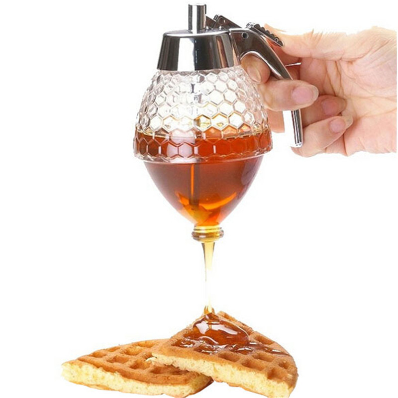 Acrylic 200ml Honey Dispenser Jar Container Cup Juice